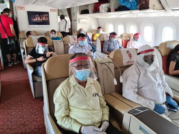 Air India takes back 236 Indian nationals who were stranded in Thailand due to the closure of international air travel in the wake of COVID-19 pandemic on Wednesday afternoon.