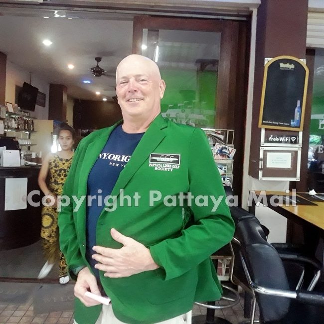 Kevin LaBar in the jacket made for him.