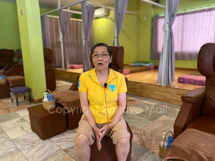 """Monpatsorn Tanathong, owner of Mona Massage Shop on Third Road, said the new health restrictions will both limit revenue and raise expenses. """"But it's better than nothing,"""" she said."""