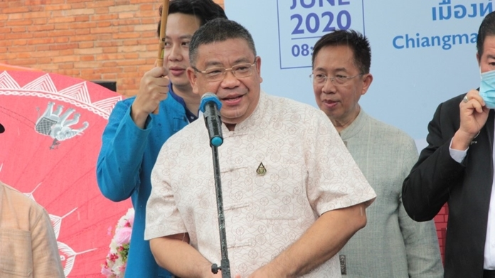 Chiang Mai Gov. Charoenrit Sanuangsit presents his opening speech.