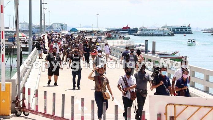 Thai tourists are finally returning to visit Koh Larn.
