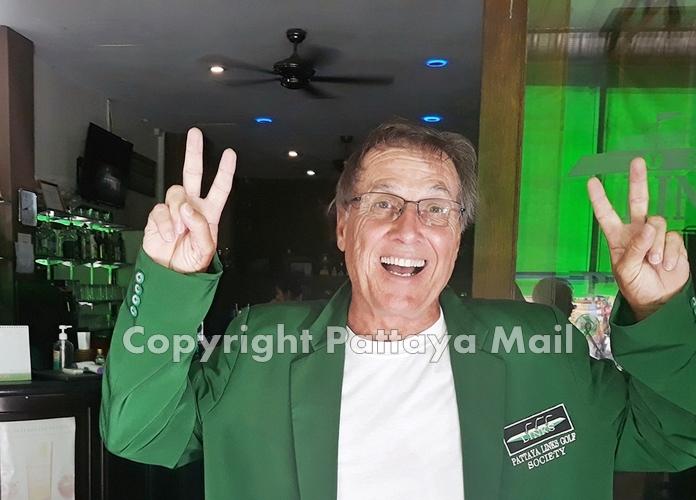 Happy winner, Bill Copeland.