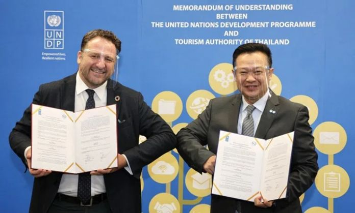 The Tourism Authority of Thailand (TAT) teams up with the United Nations Development Programme (UNDP) to develop a long-term sustainable tourism strategy.