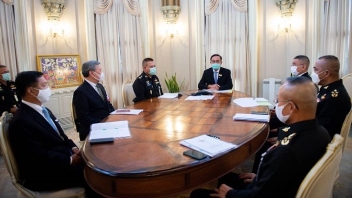 Thailand and the US discussed close cooperation on security affairs, solutions to the coronavirus disease 2019, military affairs, education, weaponry, marine security and cooperation in the Mekong Subregion.