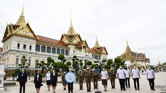 The Grand Palace, Bangkok most-visited tourist attraction received 'Amazing Thailand SHA' certificate.