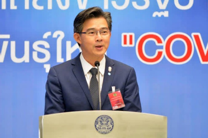 The Center for COVID-19 Situation Administration (CCSA) Spokesman, Dr. Taweesin Visanuyothin.