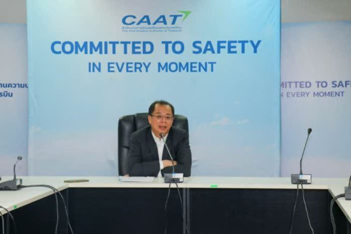 The Civil Aviation Authority emphasized that Thai Government's CCSA is responsible for a decision to end the ban of international flights this June.