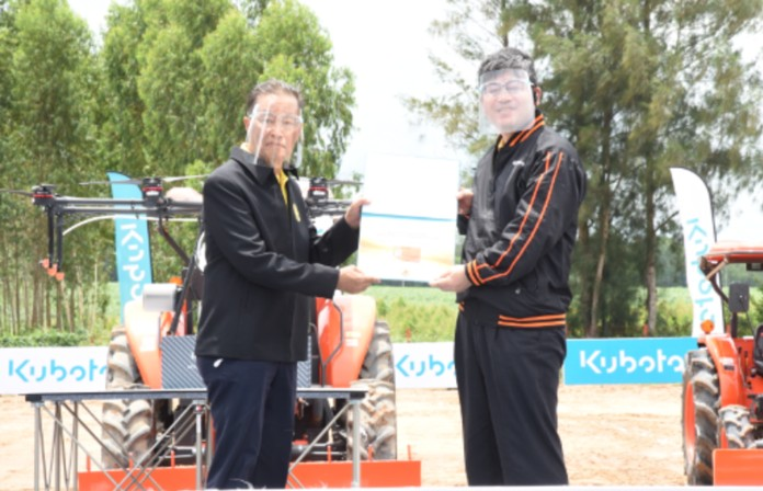 The Ministry of Labor has joined with Siam Kubota Corporationto hold 4 courses to improve their skills on farm vehicle operations.