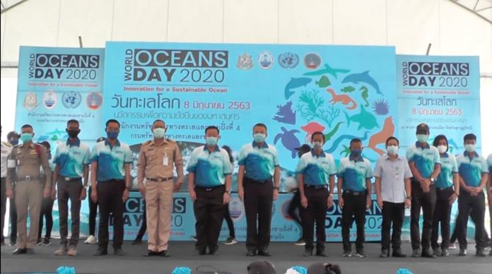 The Department of Marine and Coastal Resources spearheaded marine conservation projects in Surat Thani province.