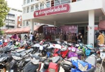 Chiang Mai Police seized 155 modified motorcycles in a crackdown on illegal street racers.