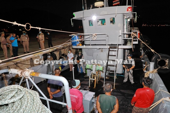 The Royal Thai Navy impounded a Thai oil tanker carrying 100,000 liters of illegal diesel fuel.