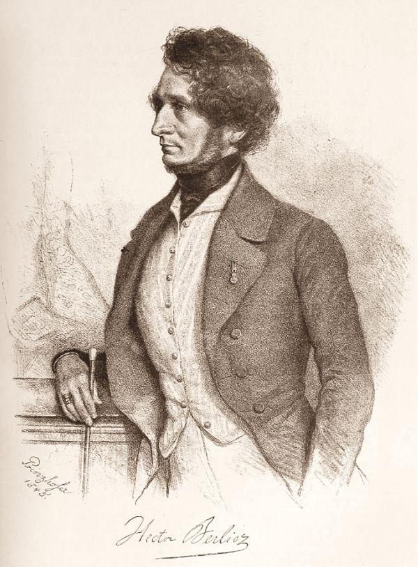 Hector Berlioz in 1845.