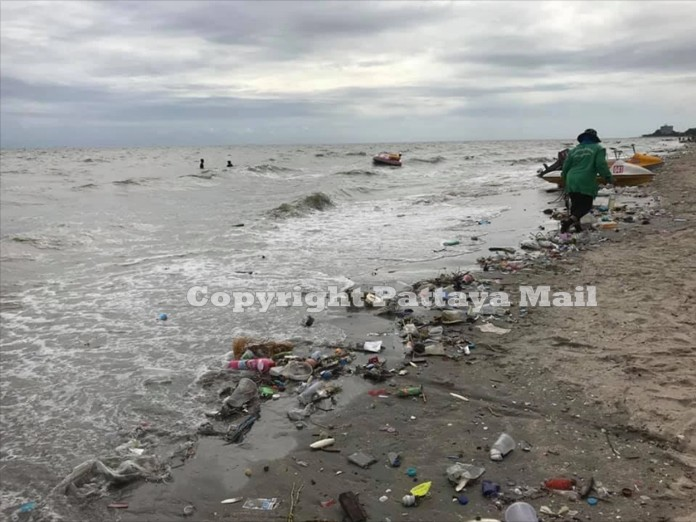 A recent storm brought ashore more rubbish than usual.
