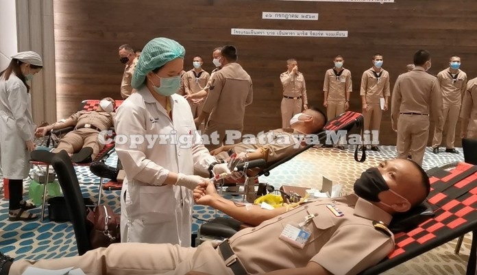 A total 18,800cc of blood was collected for Thai Red Cross Regional Blood Centre 3.