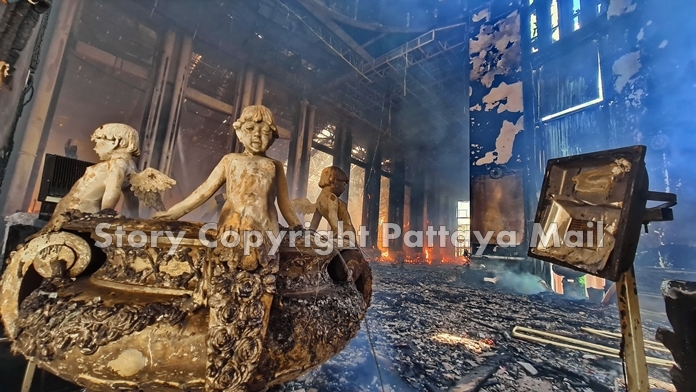 Damage to the property initially was estimated at 200 million baht with untold more to religious artifacts. It is insured for 2 billion baht.