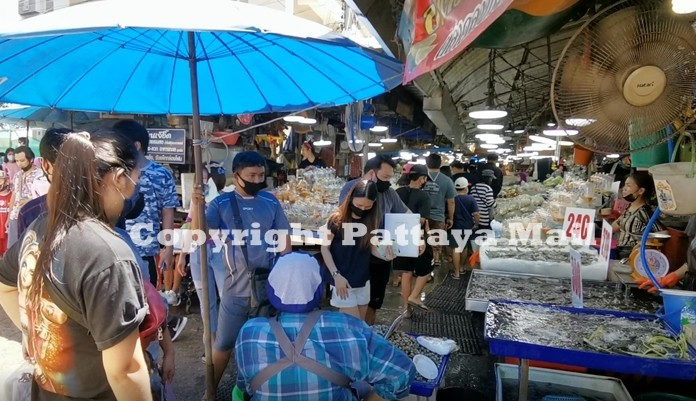 Lan Pho market was bustling with life again much to the delight of fish merchants.