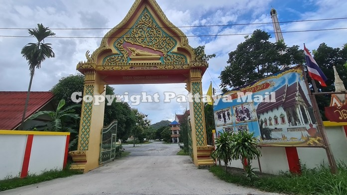 The historic and highly revered Khao Chee Chan temple came under attack from flying rocks from a nearby quarry.