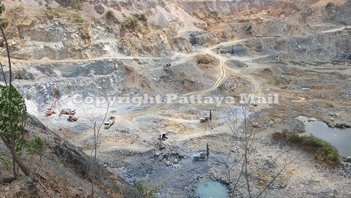 The rock quarry in Khao Chee Chan area.