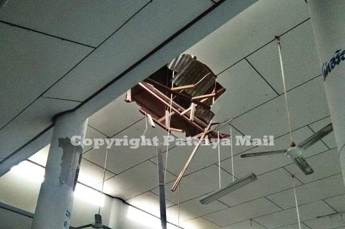 Lucky that no one was hurt but the falling rocks through the ceiling.