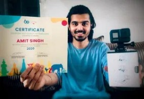 """Mr. Amit Singh (Gurugram): """"I am happy and honoured but more importantly, I am glad that people believed in my video, which depicts Thailand as the first destination that should be visited post-COVID-19."""" https://www.instagram.com/desi_tourist"""