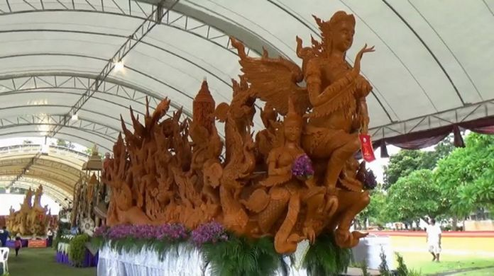 Spectacular large and medium sized carved wax candles are part of the annual iconic candle festival from July 3-7 to mark the beginning of Buddhist Lent in Ubon Ratchathani.