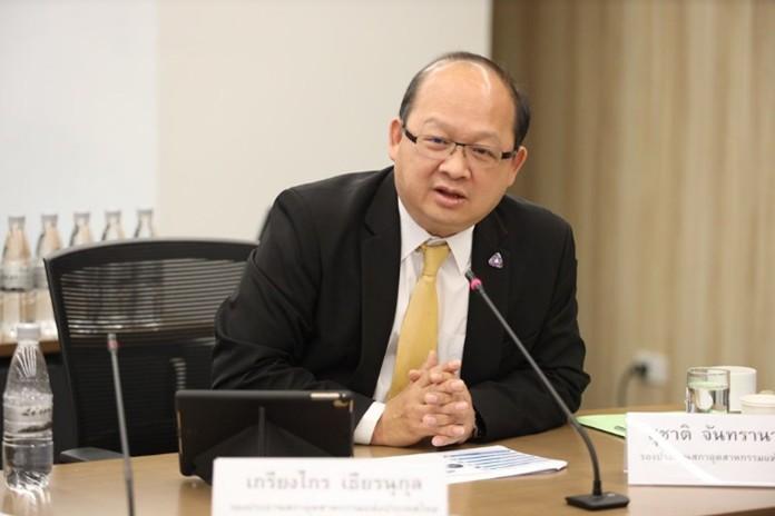 The Federation of Thai Industries (FTI) vice-chairman, Kriangkrai Tiennukul.