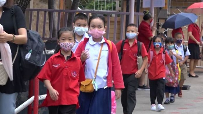 Schools put attendance limits determined from their facility capacities and class sizes and conducted social distancing and strict health screening to prevent 2nd wave of the pandemic.