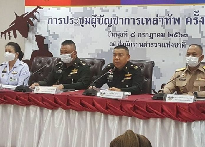 Lt Gen Apisit Nuchbusaba, spokesman of the Royal Thai Armed Forces Headquarters. (2nd lright).