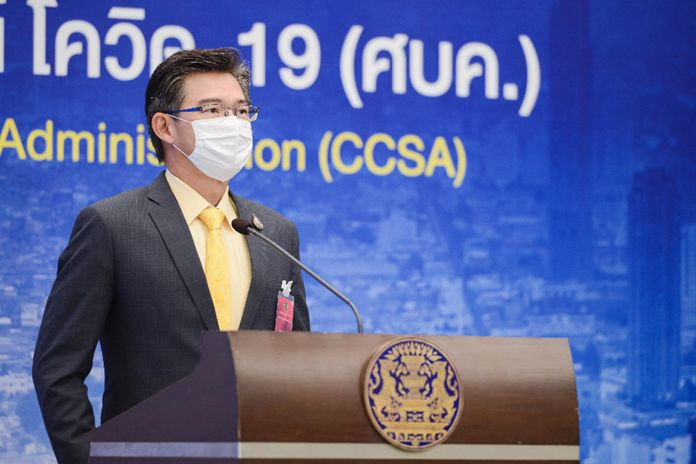 The Center for COVID-19 Situation Administration (CCSA) spokesperson, Dr. Taweesin Visanuyothin.