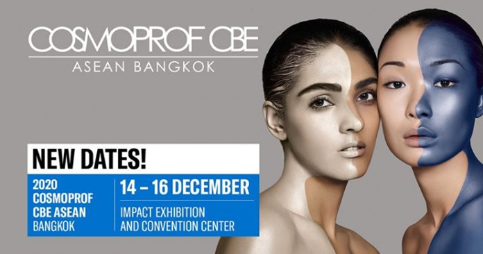 COSMOPROF CBE ASEAN (CCA 2020)will be held from December 14 - 16 at IMPACT Exhibition and Convention Center, Muang Thong Thani.