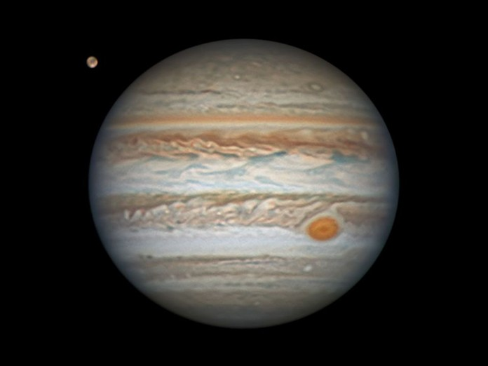 Jupiter will appear at its brightest in the southeastern skies after the sun goes down until dawn on Tuesday July 14.