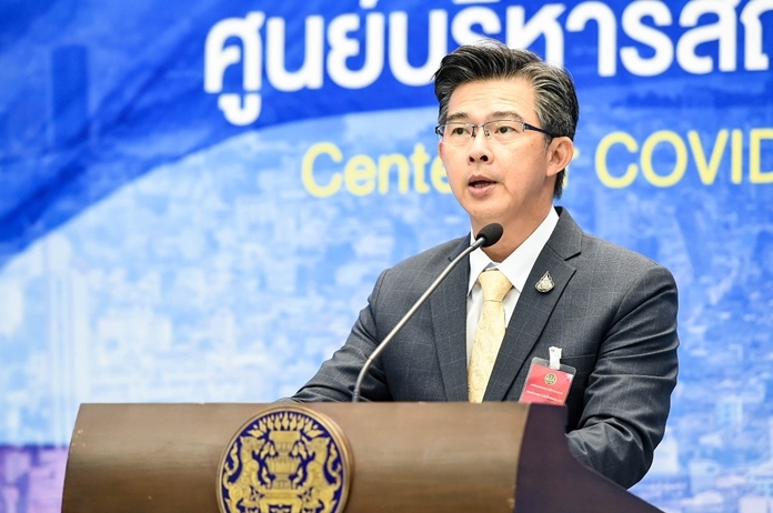 Dr. Taweesin Visanuyothin, spokesman of the Center for Covid-19 Situation Administration (CCSA).