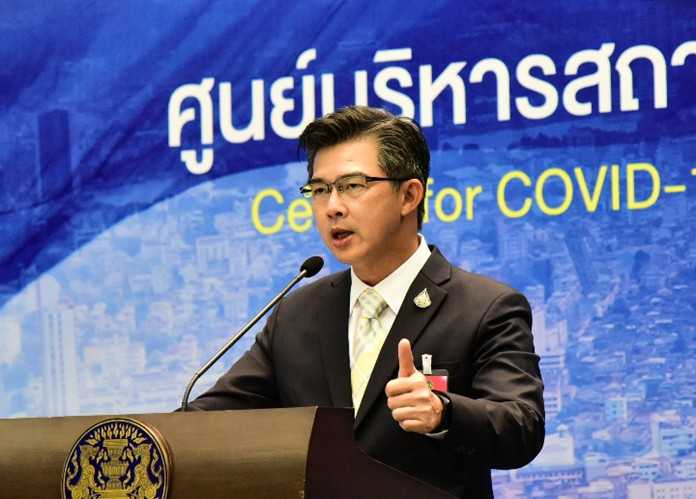 The Center for COVID-19 Situation Administration (CCSA)spokesman, Dr. Taweesin Visanuyothin.