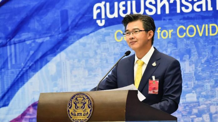 Dr. Taweesin Visanuyothin, spokesman of the Center for Covid-19 Situation Adminstration (CCSA).