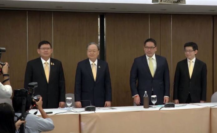 The four technocrats who founded Palang Pracharath Party prior to the election in order to support PM Prayut are in question of being removed from their posts as ministers, and deputy secretary after leaving the party.