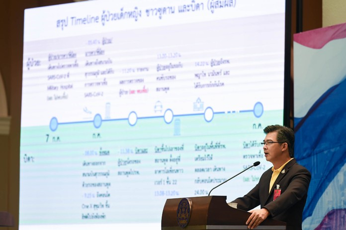 The Center for COVID-19 Situation Administration (CCSA) spokesman Dr. Taweesin Visanuyothin.
