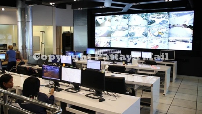 The command center in City Hall which was hit by fire recently and damaged some of the sensitive CCTC system.