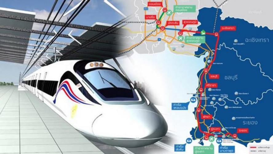 Water and electricity infrastructures are being relocated to pave the way for a high-speed railway project that will link three main airports in Bangkok, Samut Prakan and Rayong.