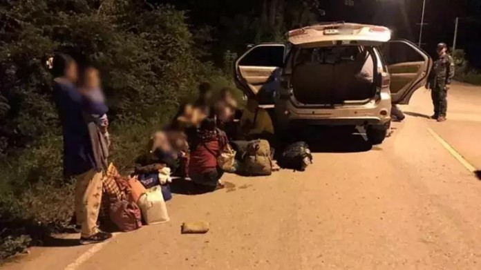 13 Illegal Cambodian migrants arrested in Sa Kaeo, Thailand's border province